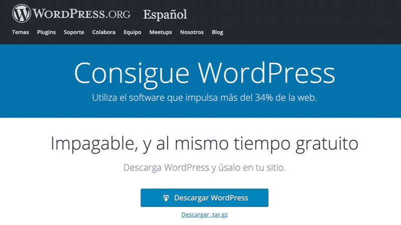 Instalar WordPress en Español
