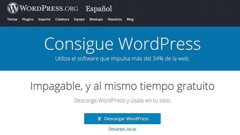 Instalar WordPress en Español