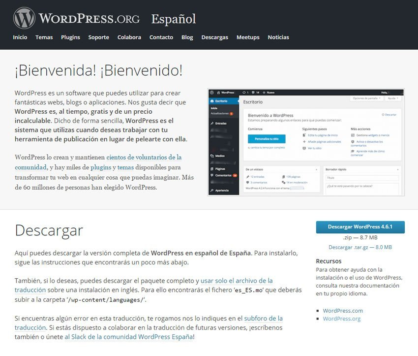 Descargar WordPress - Subir WordPress de localhost a un servidor online