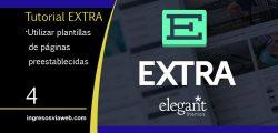 Plantillas de páginas pre-configuradas en Extra de Elengat Themes