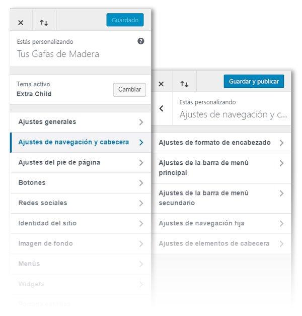 Configurar el menú de WordPress en el tema Extra | INGRESOS VÍA WEB