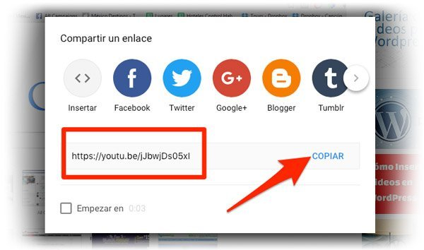 Insertar video de Youtube en WordPress