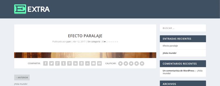 Cómo hacer un efecto de paralaje en Extra | INGRESOS VÍA WEB