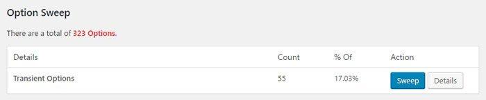 Limpiar la base de datos de WordPress. Limpiar opciones