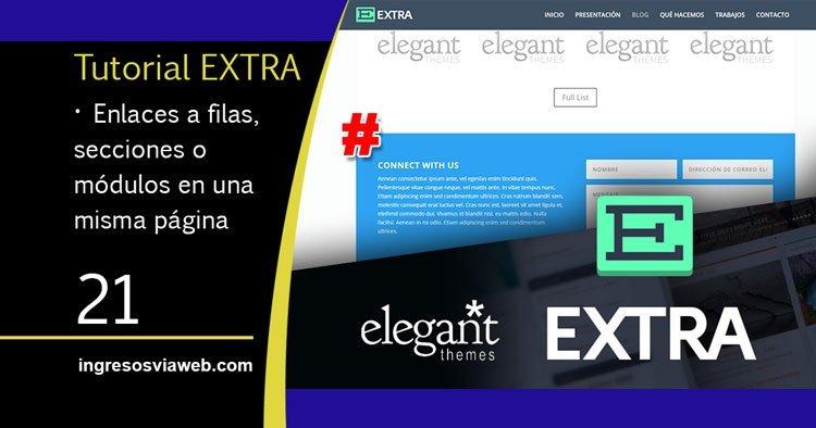 Crear enlaces a módulos, filas o secciones dentro de una página de Extra o Divi