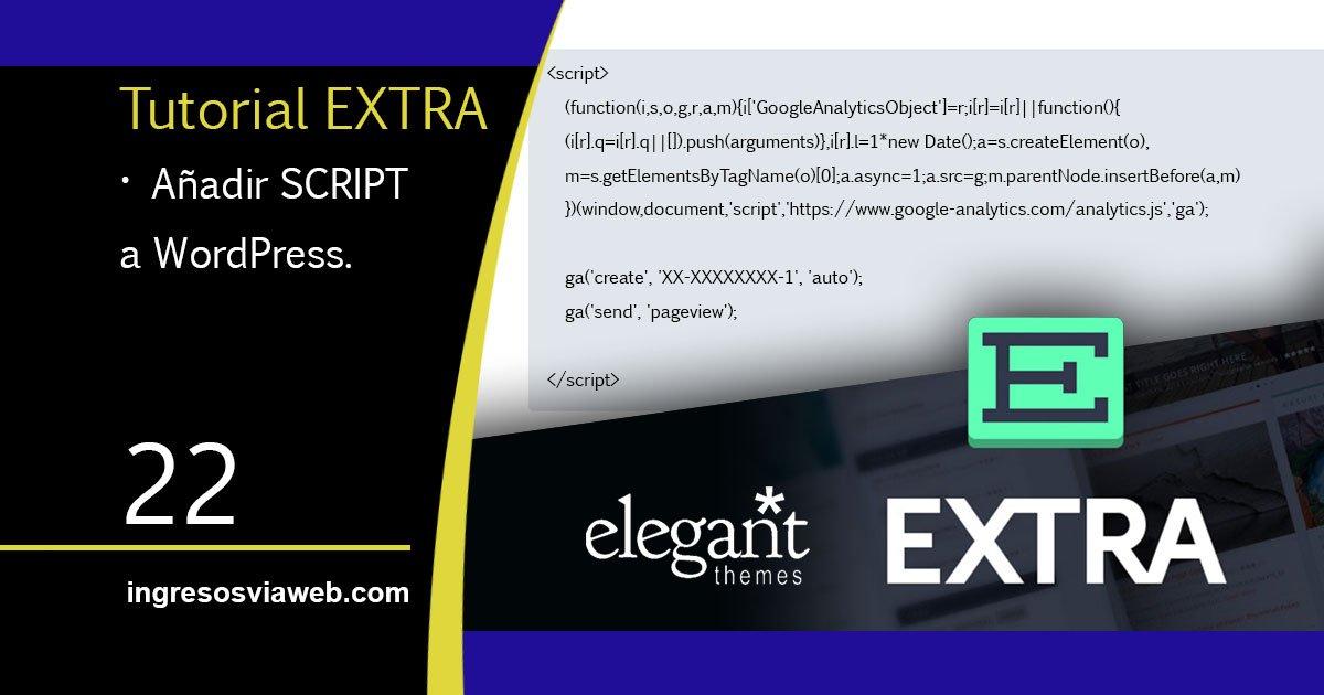 Insertar script en WordPress