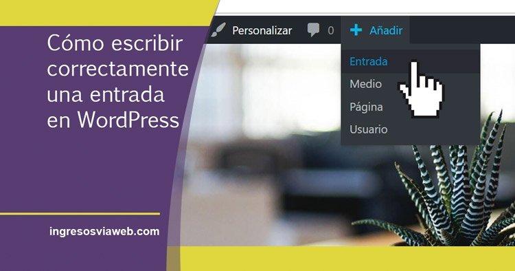 Escribir una nueva entrada en WordPress