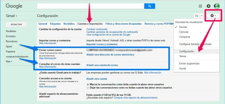 configurar dominio propio en gmail