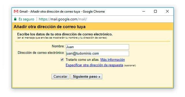 Enviar correo de dominio propio en Gmail