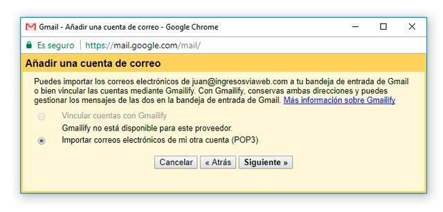 Importar correos de dominio propio en Gmail