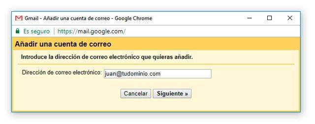 Recibir correo de dominio propio en Gmail