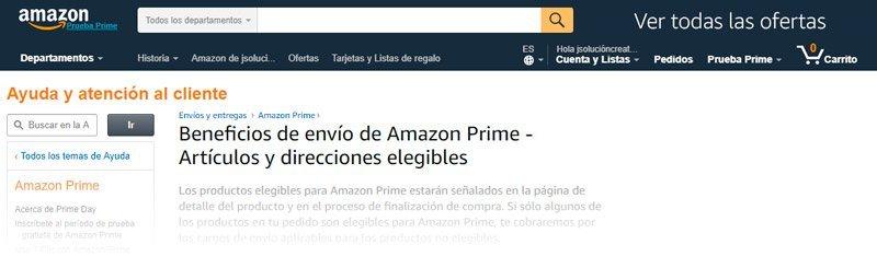 Envíos de Amazon.com EEUU si eres prime de amazon