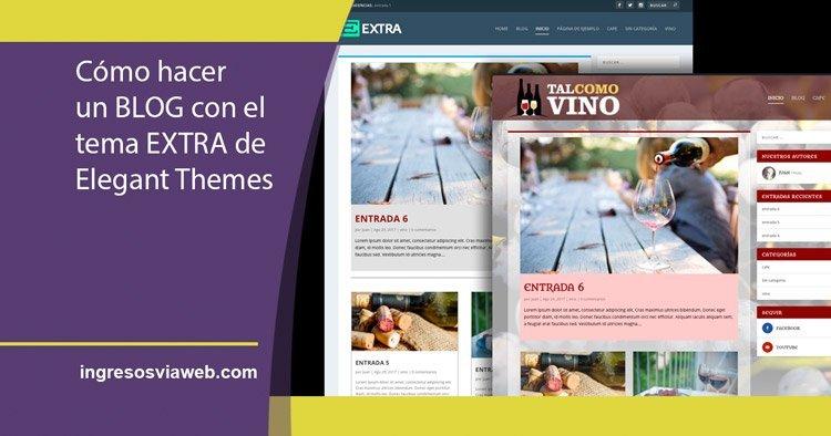 Cómo crear un blog con el tema EXTRA de WordPress