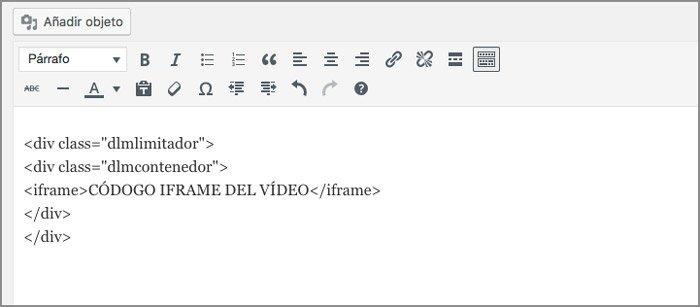 Insertar vídeos de Dailymotion. Código html