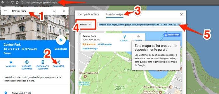 Embeber mapa de Google en formulario en divi