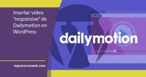 Insertar vídeos de Dailymotion