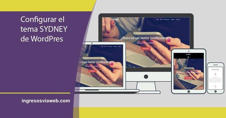 Configurar SYDNEY de WordPress | INGRESOS VÍA WEB