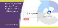 Cómo poner un reCaptcha al formulario de contacto