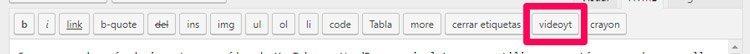 editor html plugin para vídeos de youtube