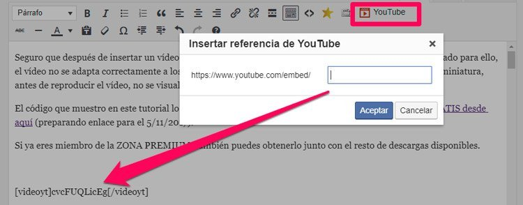 editor visual plugin para vídeos de youtube