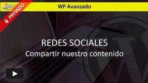 WordPress Avanzado, compartir en las redes sociales.