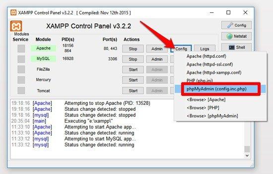 phpmyadmin ampliar tiempo de ejecución