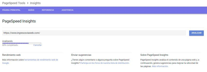 Velocidad de carga Pagespeed Insights para estartegia SEO