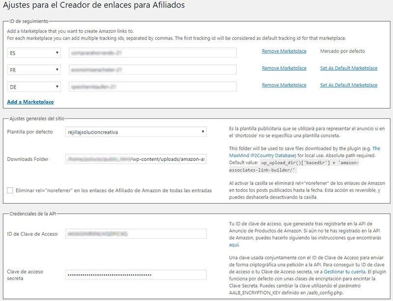 Plugins para afiliados de Amazon. Amazon Associates Link Builder