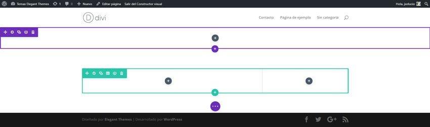 Formulario en e editor visual de Divi