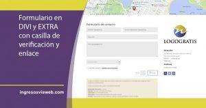 Página de contacto con formulario en Divi y Extra
