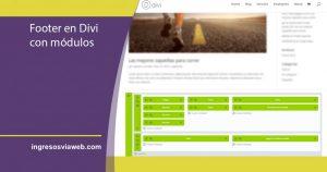 Configurar el footer en Divi con módulos de Divi Builder
