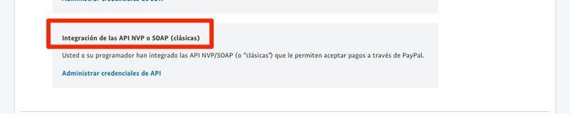 Integracion de las API clasicas de PayPal en Woocommerce