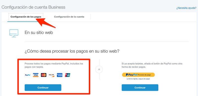 configuracion de pagos con PayPal en Woocommerce