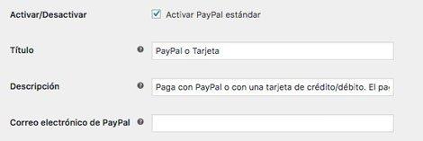 email de PayPal en Woocommerce