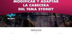 Configurar la cabecera del tema Sydney