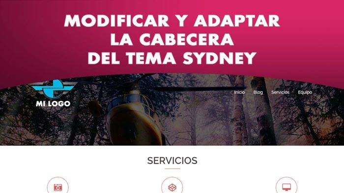 Adaptar la cabecera del tema Sydney