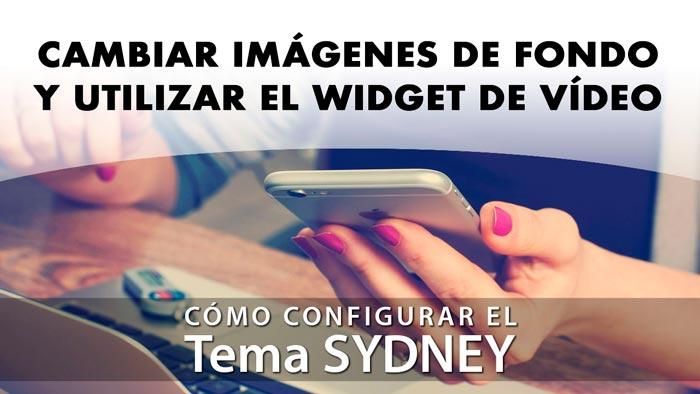 Cómo cambiar imágenes de fondo y utilizar el widget de vídeo