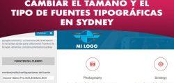 Cambiar las fuentes tipográficas de Sydney