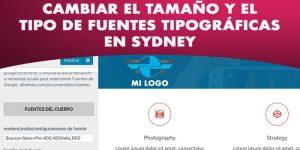 Cambiar fuentes y tamaño de letra en Sydney