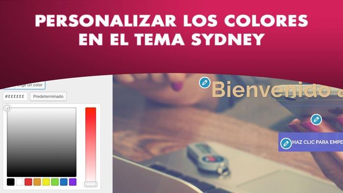 Personalizar los colores en Sydney