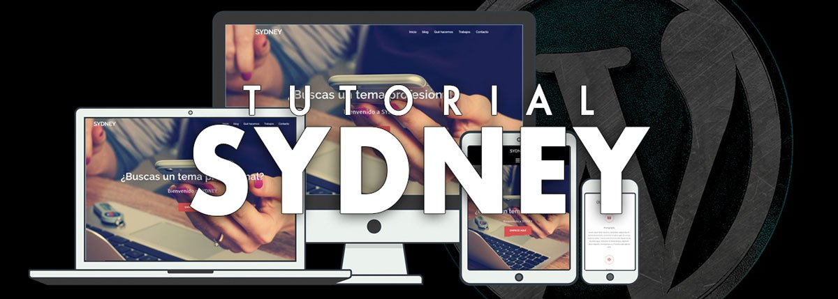 tutorial del tema sydney de wordpress