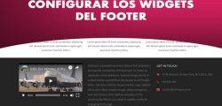 Configuracion de los widgets del pie de página
