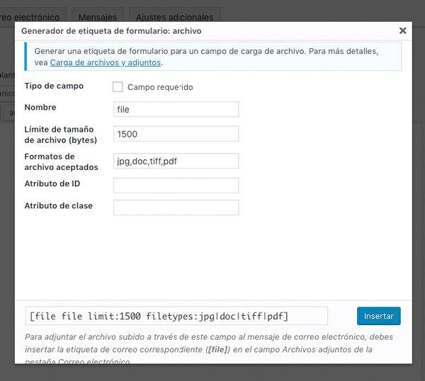 Adjuntar archivos a un formulario en Divi