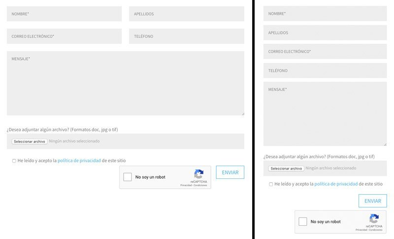 Ajustar formulario con CSS