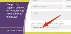 Cómo adjuntar archivos a formulario de contacto de Elegant Themes