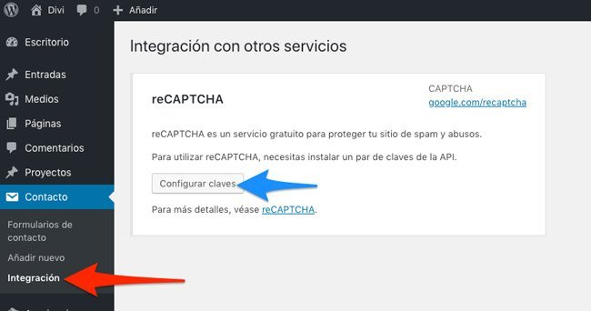 Integración de reCAPCHA con Contact Form 7