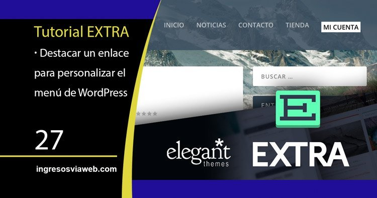 Destacar un enlace para personalizar el menú de WordPress