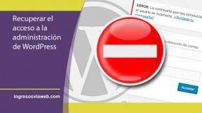 Acceso a la administración de WordPress