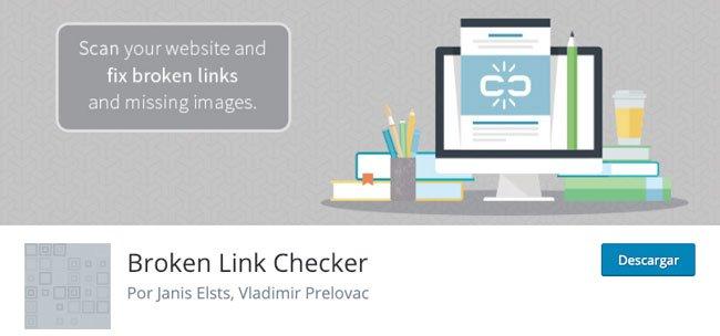 """Plugin gratuito """"Broken Link Checker"""" de WordPress"""