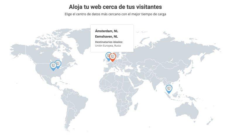 Centros de datos de SiteGround destinado a España